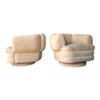 Thayer Coggin Style Swivel Chairs - a Pair