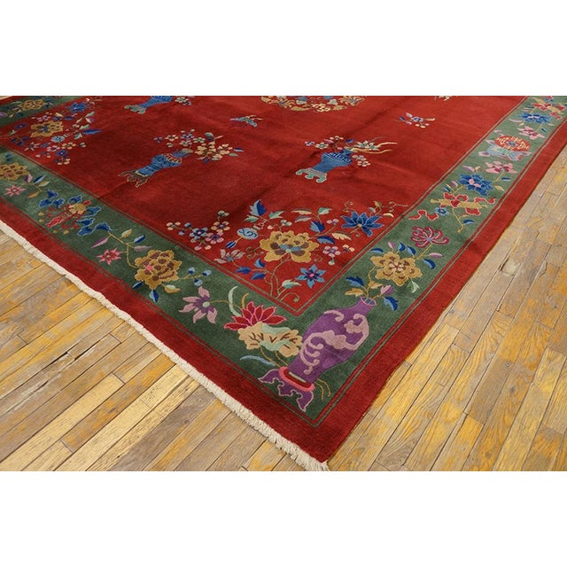 """1930s Chinese Art Deco Rug - 9'x11'9"""" For Sale In New York - Image 6 of 7"""
