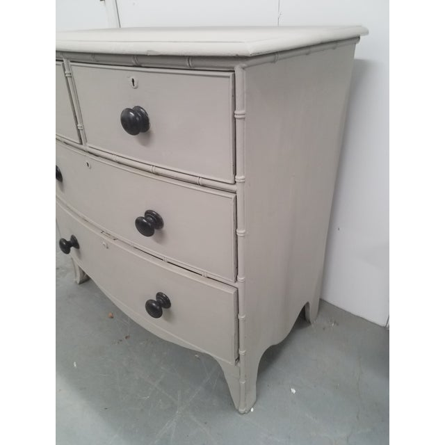 Paint Antique English Painted Chest of Drawers For Sale - Image 7 of 13