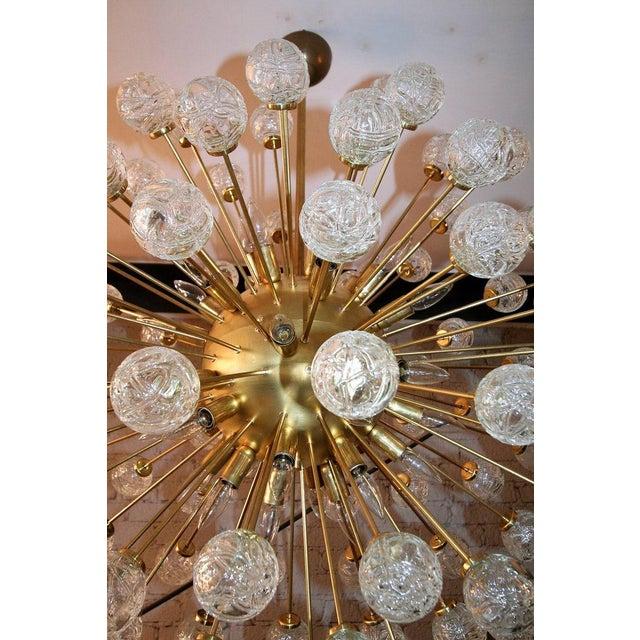 Rose Murano Glass Sputnik Chandelier For Sale - Image 4 of 9