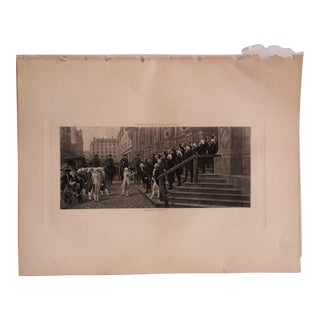 "Antique Photogravure on Paper, ""The Arch of Steel"" Selmar Hess Publishers 1894 For Sale"