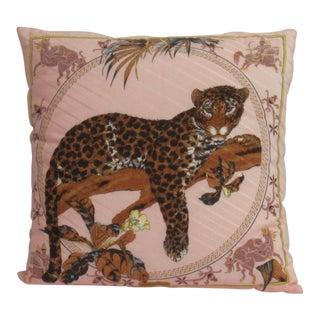 Salvatore Ferragamo Leopard Silk Pillow For Sale