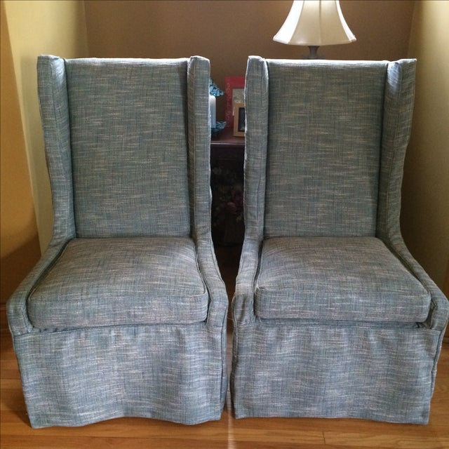 Custom Upholstered Chairs - A Pair - Image 2 of 5