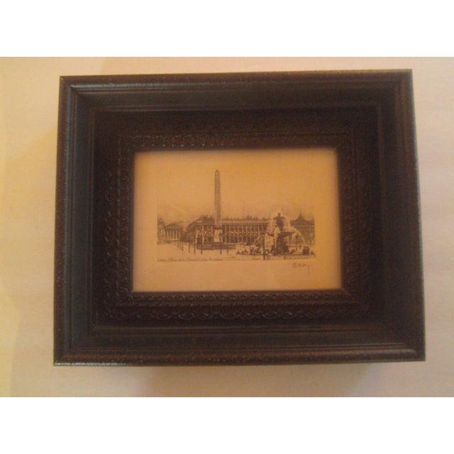 Henri Be'rengier Signed Paris Engraving - Image 8 of 8