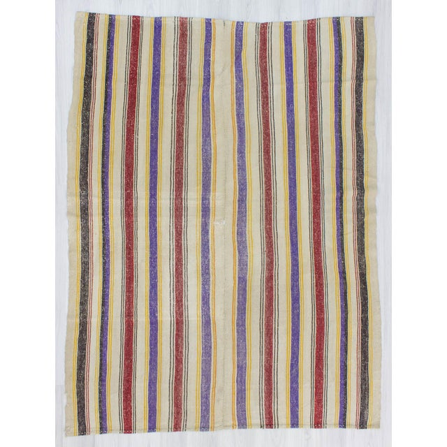 Handwoven kilim rug from Afyon region of Turkey. In good condition. Approximatelly 45-55 years old.