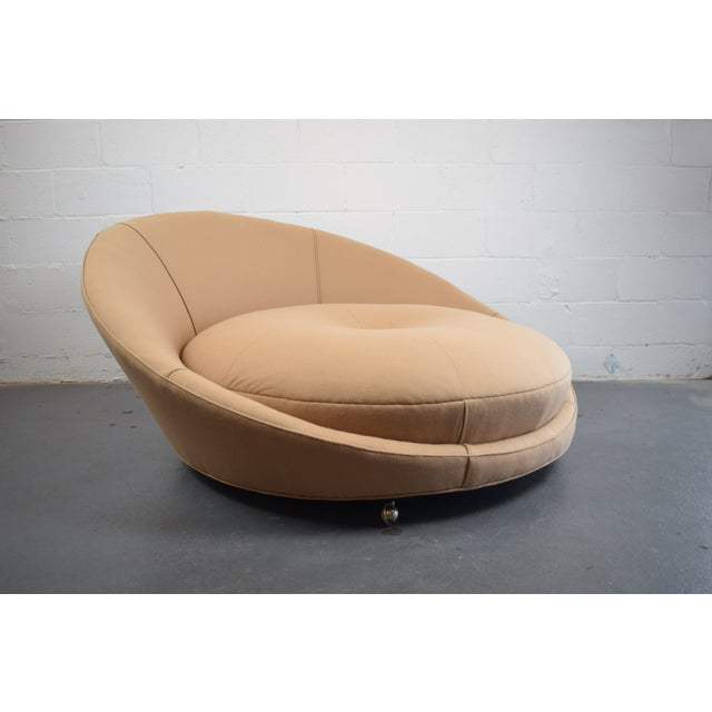Mid-Century Modern Milo Baughman Round Lounger Settee For Sale - Image 3 of 11