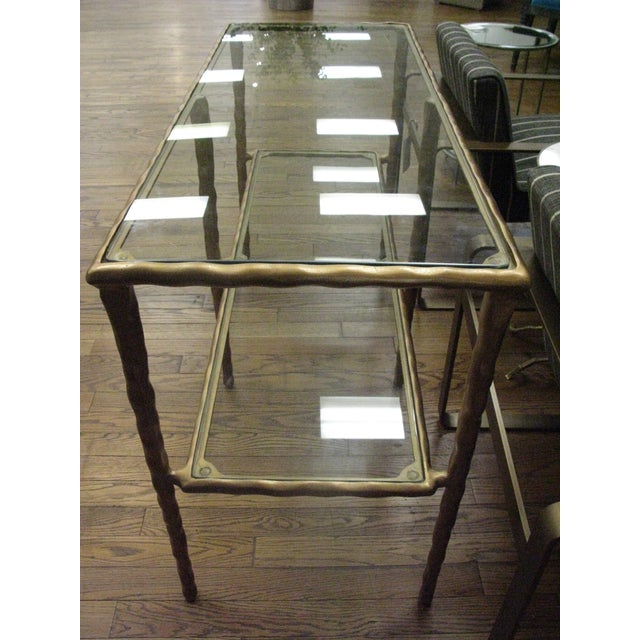 Art Deco Jamie Young Shelved Console Table For Sale - Image 3 of 5