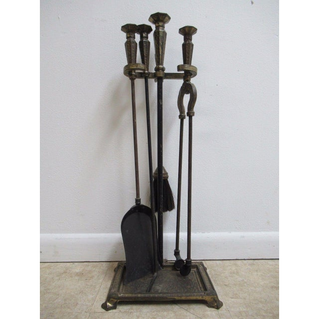 Antique Art & Crafts Iron Fireplace Tools - Image 11 of 11