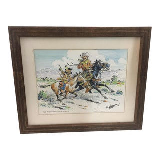 Fred Harman Watercolor Red Ryder Comic Strip For Sale