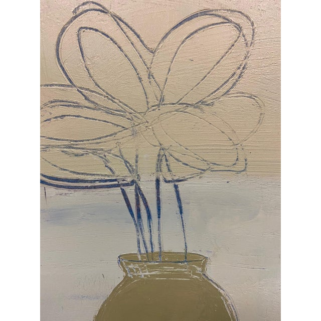 This is an original contemporary abstract still life oil painting created by one of Soicher-Marin's in-house studio...