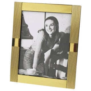 Noel b.c. Italy 1970s Modernist Brass Picture Photo Frame For Sale