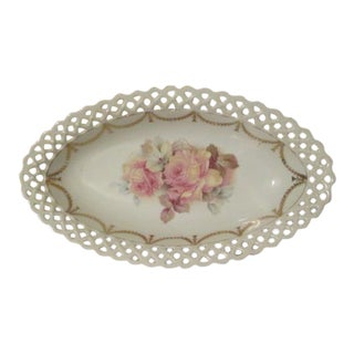 Bavaria Shumann Lace Edged Oval Bowl For Sale