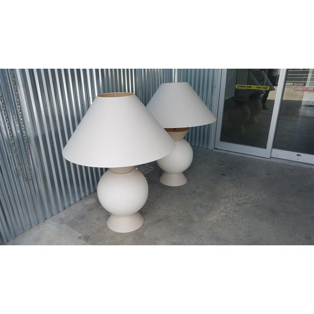 French Jacques Molin Bulbous Futuristic Table Lamps - A Pair For Sale - Image 4 of 9