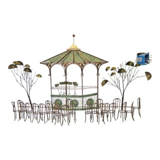 Curtis Jere Signed Bandstand Wall Art For Sale