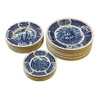 Vintage Staffordshire Fair Winds Dinnerware - Set of 28 For Sale