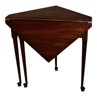 1960s Queen Anne Brandt Solid Cherry Side Table For Sale