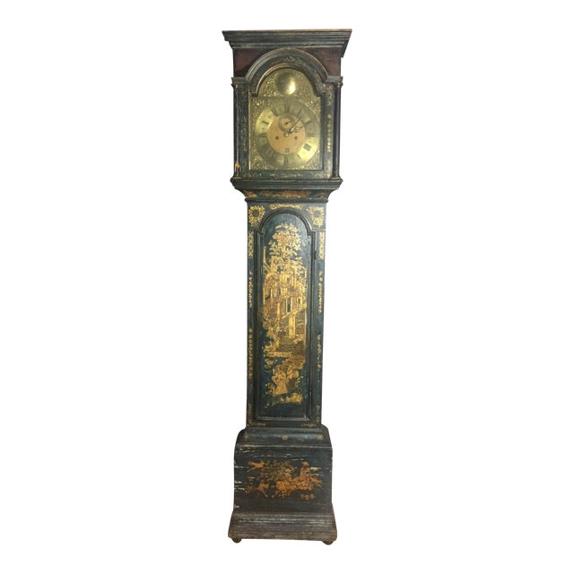 Late 18th Century English Chinoiserie Tall Case Clock For Sale