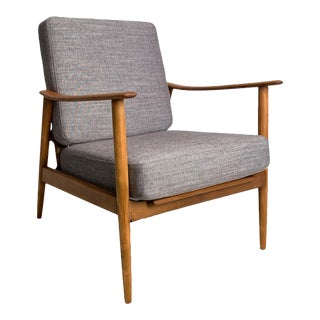 Vintage Danish Beech Accent Chair For Sale