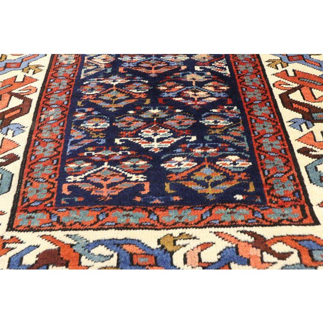 Contemporary 19th Century Persian Kazak Tribal Hallway Runner - 3′4″ × 8′10″ For Sale - Image 3 of 9