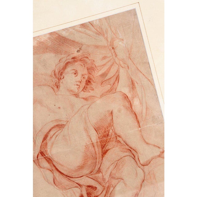 Figurative 18th Century Continental Red Chalk Drawing, Figure Study For Sale - Image 3 of 11