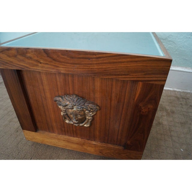 Brown Solid Walnut Cube End Tables - A Pair For Sale - Image 8 of 10