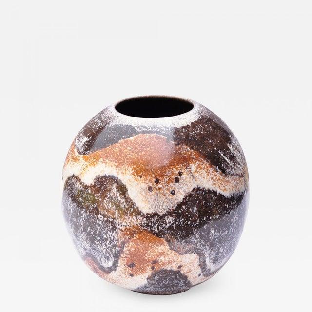 Mid-Century Modern Bulbous Vase by Gustav Sporri for Zieler Ag- Switzerland 1950s For Sale - Image 3 of 3