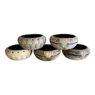 Five Art Pottery Bowls For Sale
