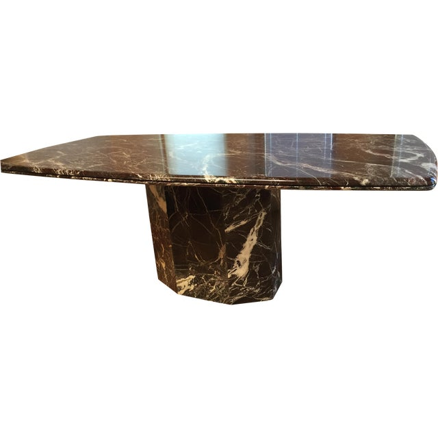Italian Marble Dining Table - Image 1 of 7