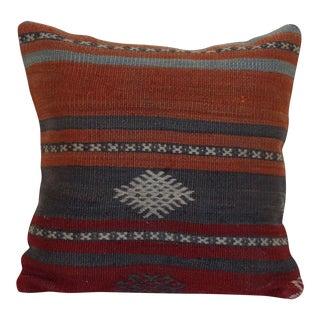 Vintage Turkish Kilim Pillowcase For Sale