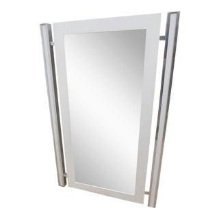Mid-Century Thayer Coggin Milo Baughman Aluminum Mirror For Sale