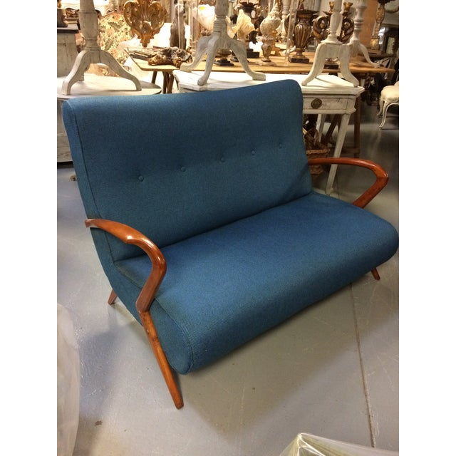 French Mid Century Modern Settee - Image 2 of 11