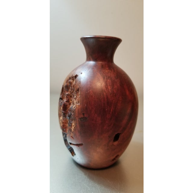 Wood Burl Wood Bud Vase For Sale - Image 7 of 7