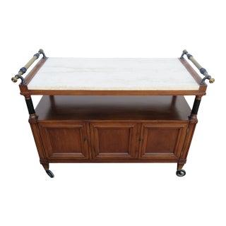 Mid Century Modern Bar Tea Liquor Server Cart Server Console 2064 For Sale