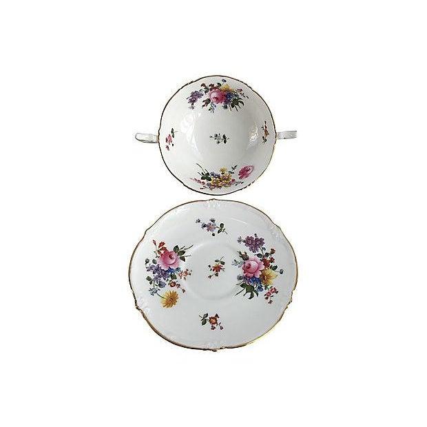 English Traditional English Porcelain Cauldon Soup Bowl Set - Set of 10 For Sale - Image 3 of 7