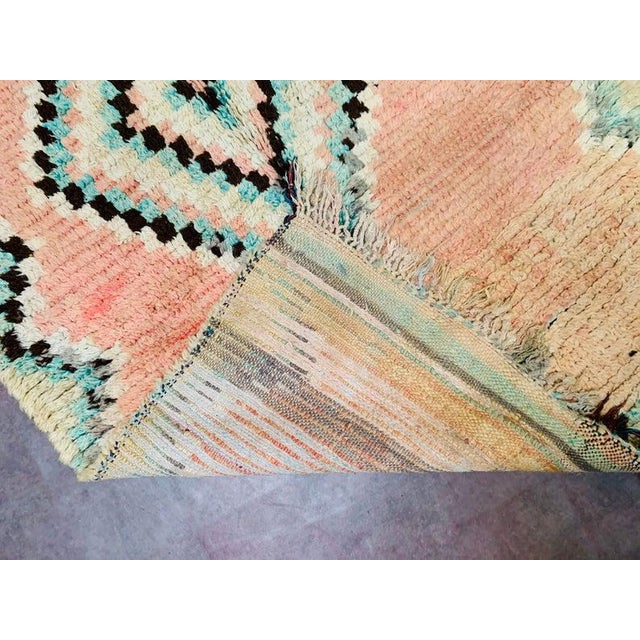 1970s Vintage Moroccan Beni Ourian Rug-3′12″ × 8′6″ For Sale - Image 9 of 11