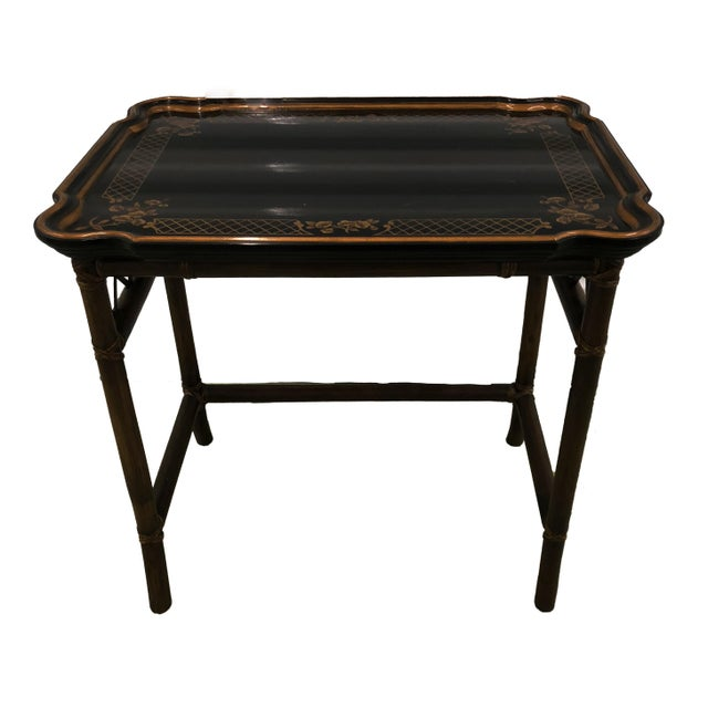 These awesome Baker Furniture Faux Bamboo Chinoiserie Nesting Tables are straight from the Baker showroom in Grand Rapids,...