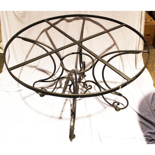 Wrought Steel Dining Table Base For Sale - Image 4 of 10