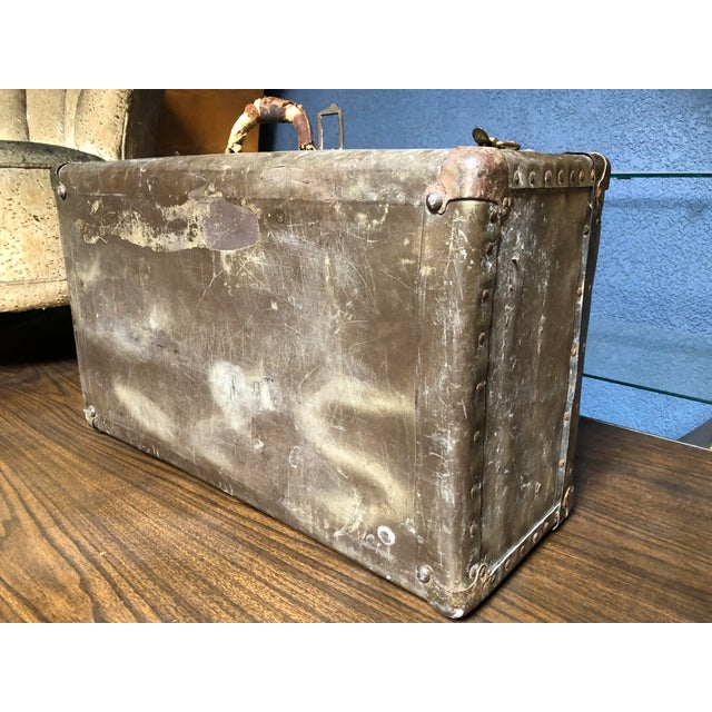 Vintage Well-Worn Wearever Salesman Sample Suitcase For Sale - Image 10 of 11
