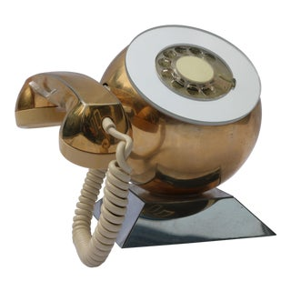 Vintage Space Age Gold Rotary Phone