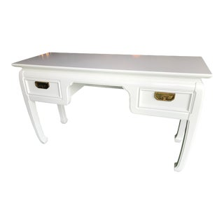Vintage Ming Thomasville Lacquered Desk-Console Table For Sale