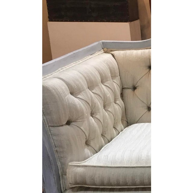 Mid-Century Modern Late 20th Century Vintage Custom Swedish Gustavian Style Sofa For Sale - Image 3 of 13