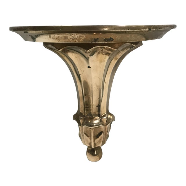 Brass Acanthus Wall Bracket - Image 1 of 8