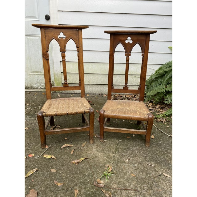 Antique Prayer Chairs - a Pair For Sale - Image 13 of 13