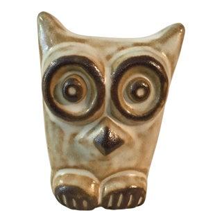 1950s Vintage Gotek Colonia Tovar Venezuela Brown Owl Figure For Sale