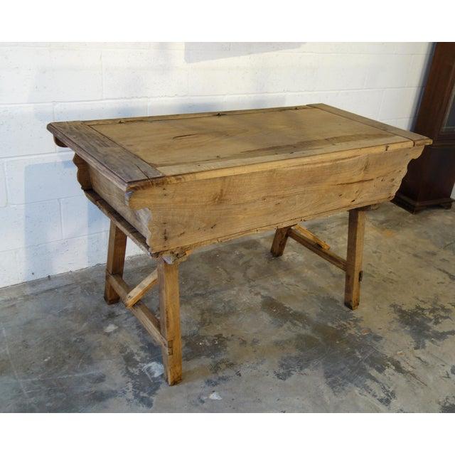 19th Century Italian Rustic Tuscan Farmhouse Console Table For Sale - Image 4 of 13