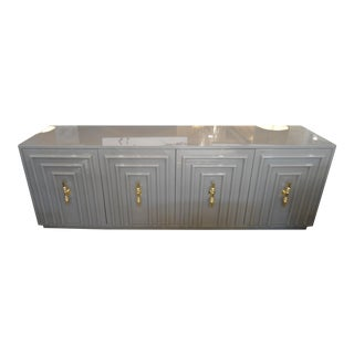 ModShop Art Deco Gray Lacquer W/ Gold Pulls Sideboard