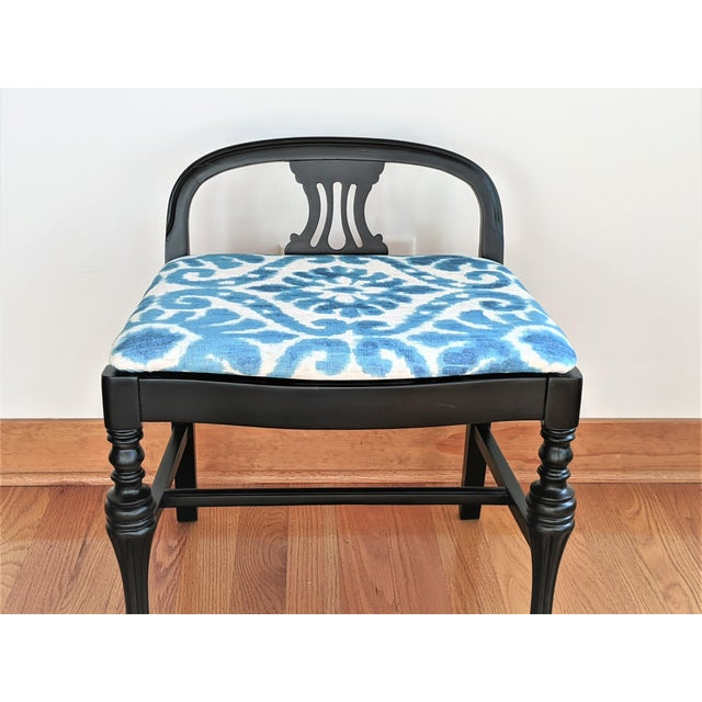 Bring this delightful restored Art Deco style bench into your home for charm and comfort. We have painted the bench a...