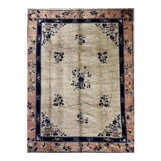 Fine Chinese Antique Art Deco Rug For Sale