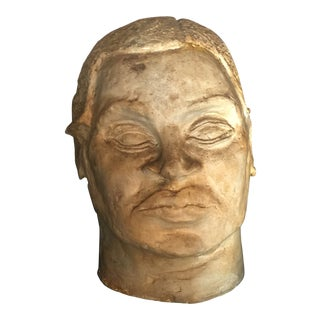 Large Mid-Century Bust For Sale