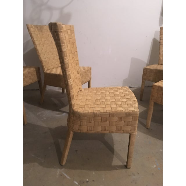 High-Back Wicker Side Chairs - Set of 6 - Image 5 of 5